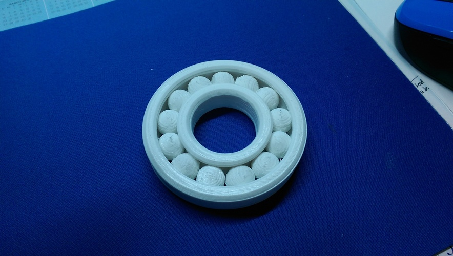 Fully Assembled Ball Bearing 3D Print 8676