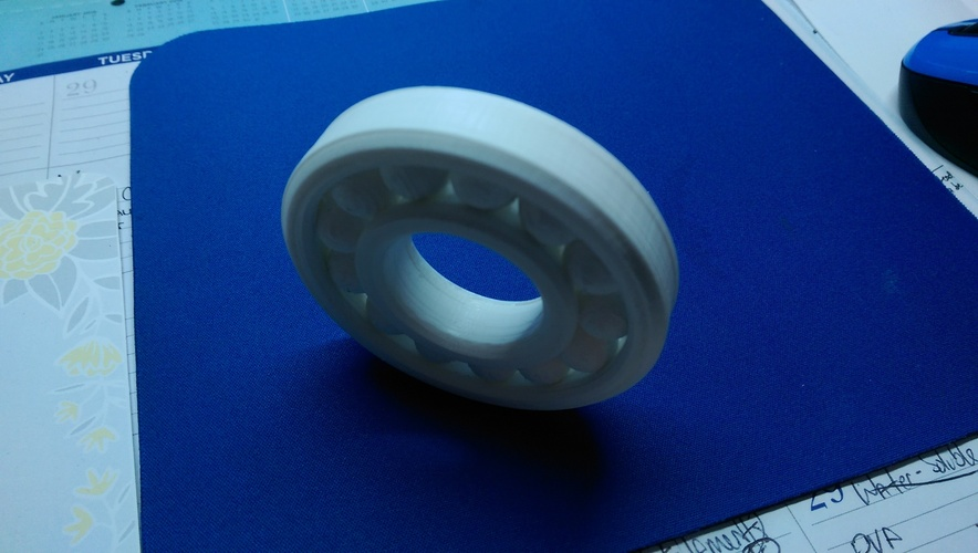 Fully Assembled Ball Bearing 3D Print 8677