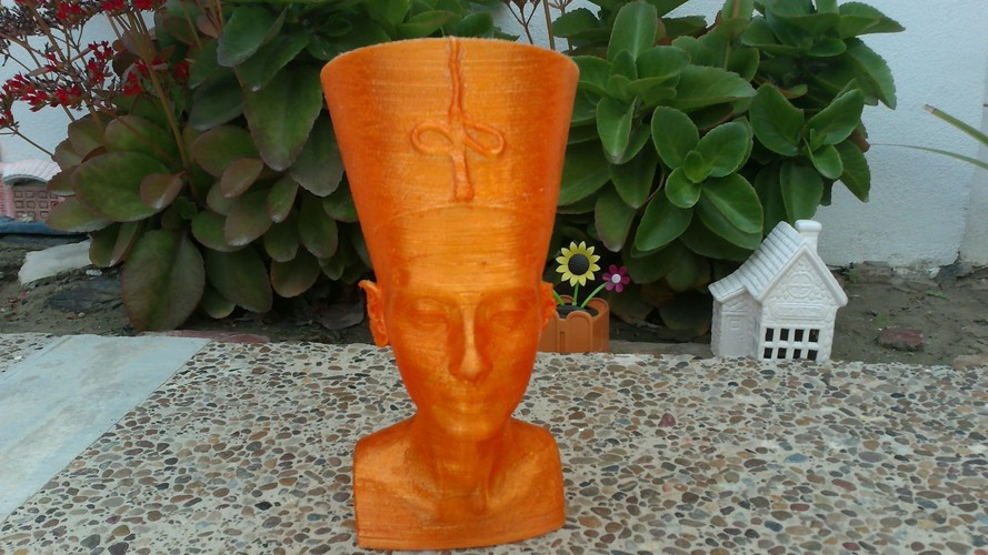 Nefertiti Bust [Hollow] 3D Print 8679