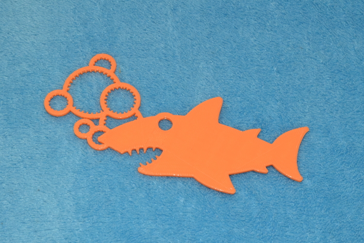 Shark Bubble Wand 3D Print 8733