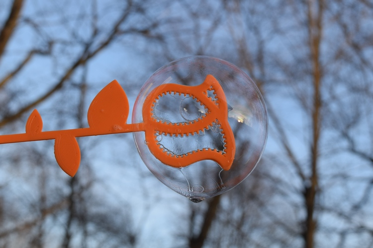 Shark Bubble Wand 3D Print 8735