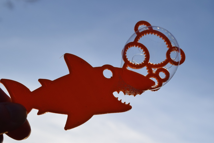 Shark Bubble Wand 3D Print 8747