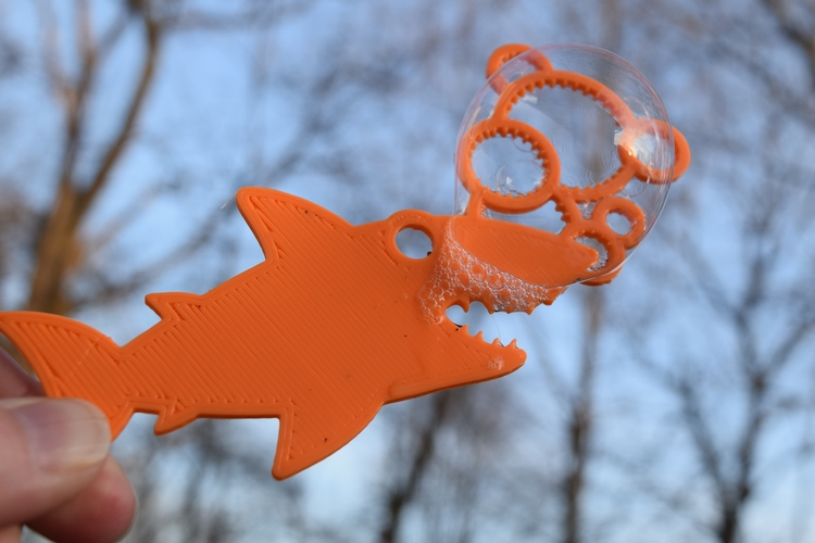 Shark Bubble Wand 3D Print 8748