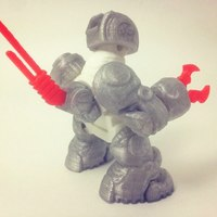 Small SkullBot 001 - via 3DKToys 3D Printing 8861