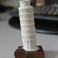 Small The Leaning Tower of Pisa 3D Printing 8888