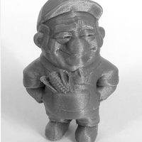 "Small ""The Farmer"" from the World of Makers series 3D Printing 891"
