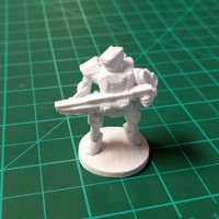 Small C-Series Cyclops Automated Militia (18mm scale) 3D Printing 9057