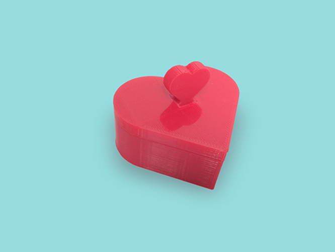 Heart Jewelry box V1.5 (updated) 3D Print 9070