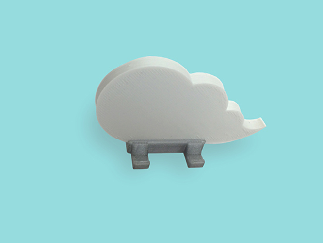 Cloud keychain holder 3D Print 9088