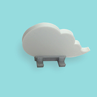 Small Cloud keychain holder 3D Printing 9088
