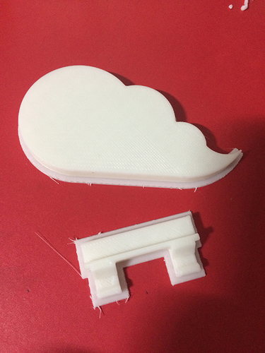 Cloud keychain holder 3D Print 9089
