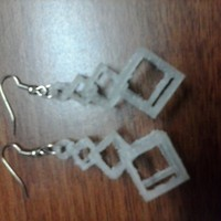 Small Interlocking Square Earrings 3D Printing 909