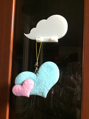 Cloud keychain holder 3D Print 9092