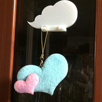 Small Cloud keychain holder 3D Printing 9092