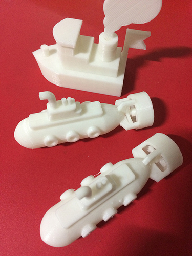 Toy submarine 3D Print 9115