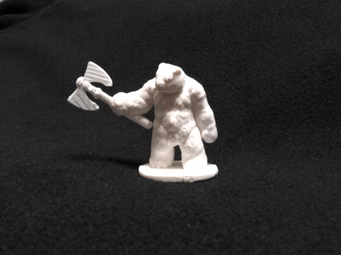 Bear Warrior of the Ironwood (18mm scale) 3D Print 9138
