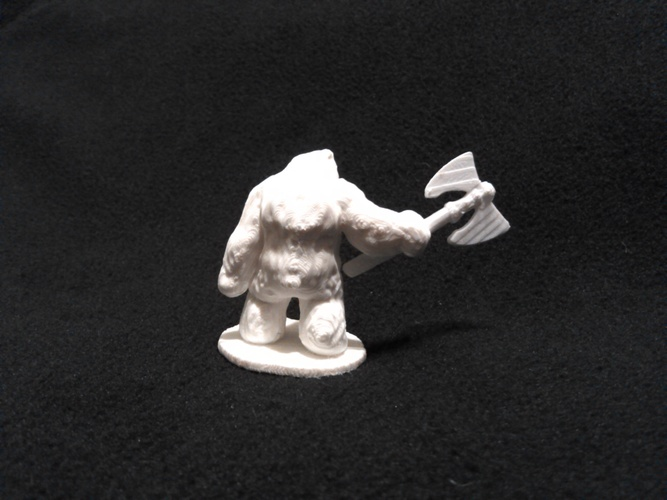 Bear Warrior of the Ironwood (18mm scale) 3D Print 9139