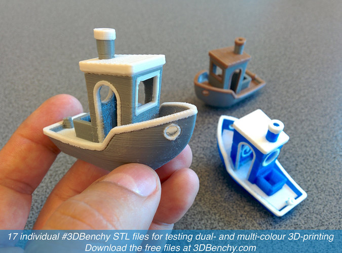 #3DBenchy - The jolly 3D printing torture-test 3D Print 917