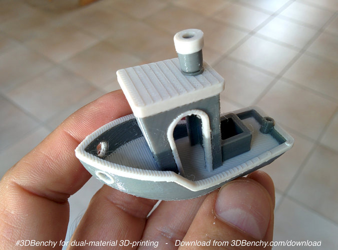 #3DBenchy - The jolly 3D printing torture-test 3D Print 918