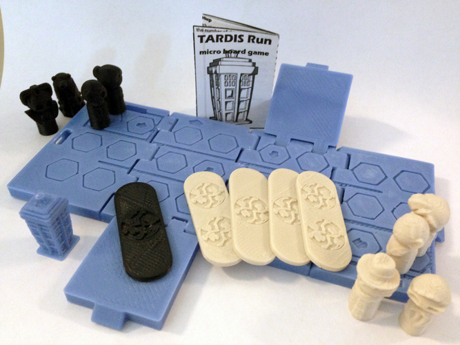 TARDIS Run board game Print-In-One 3D Print 9205