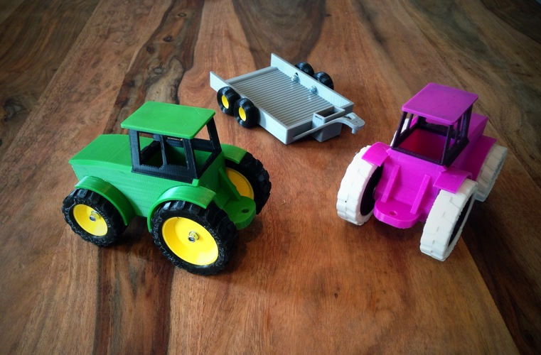 John Deere Tractor and Trailer 3D Print 9250