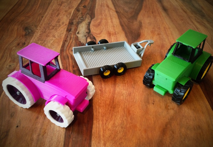 John Deere Tractor and Trailer 3D Print 9251