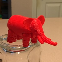 Small Elephant 3D Printing 9374