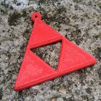 Small Zelda Triforce keyring 3D Printing 940