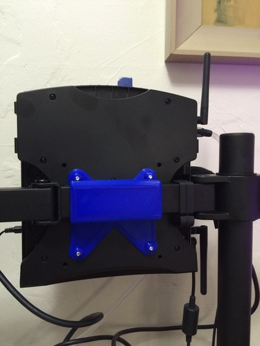 Monitor stand PC VESA Mount (Steambox style PC) 3D Print 9482