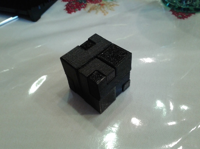 Apparently Impossible Cube 3D Print 9605