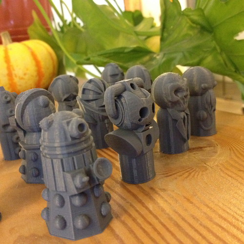 Doctor Who Monster Pawns 3D Print 97