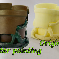 Small Cracked Flower Pot 3D Printing 973
