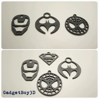 Small Superhero Keychains 3D Printing 9740