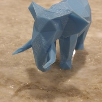 Small Low Poly Elephant Art Sculpture 3D Printing 9789