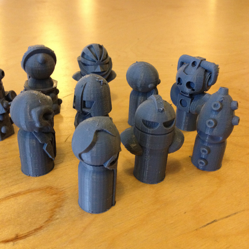 Doctor Who Monster Pawns 3D Print 98