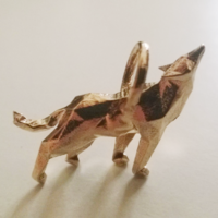 Small Wolf Low poly 3D Printing 9811