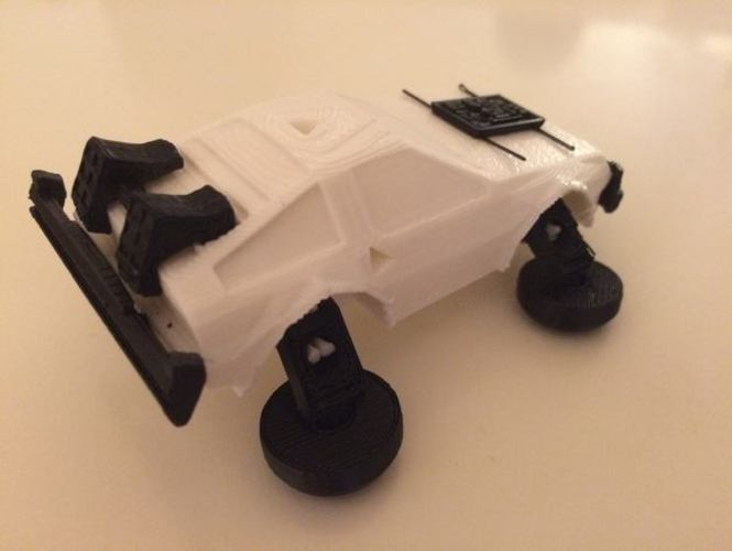 3DRacers - DeLorean - Back to the Future 3D Print 9833