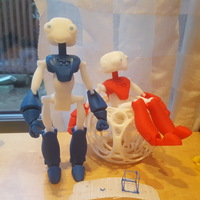 Small BeQui,  Jointed Robot 3D Printing 9996