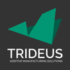 Small trideus logo tag web color vert darkbg